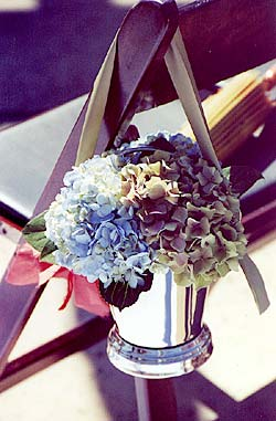 Silver Ice Bucket Arrangement